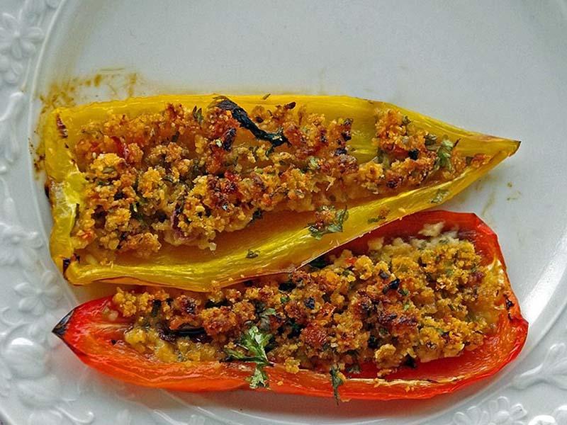 gratinierte paprikas mit olivenöl