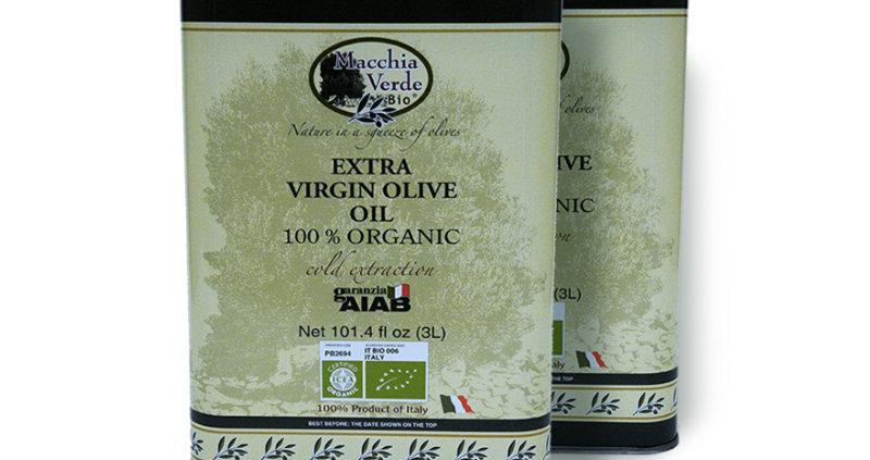 olio di oliva extravergine in taniche da 3 litri