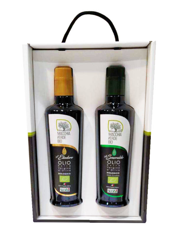 Geschenkbox mit bestem Olivenöl